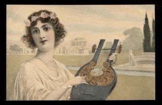 CHARMANTE LADY CHARME ELEGANCE INSTRUMENT DE MUSIQUE MUSIC HARPE