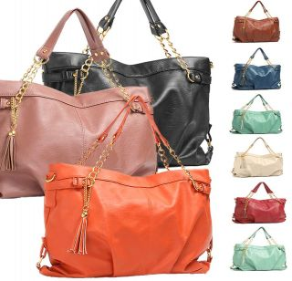 New Womens Leather Handbag Tote Bag Shoulder Bag Ladies Fashion Korea