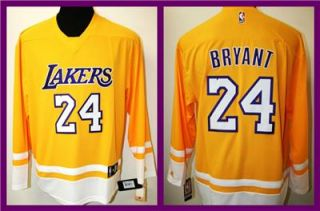 Adidas La Lakers Kobe Bryant Limited Edition Stitched Hockey Jersey La