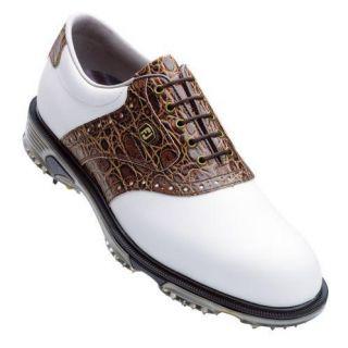 FJ Limited Mens Dryjoy Tour Golf Shoes 53754 White Brown 9 5 M