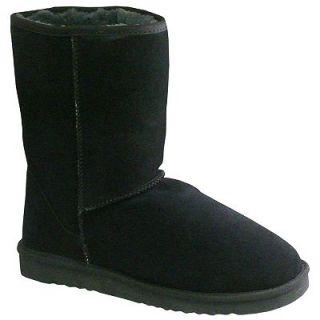 NIB LAMO Australian Sheepskin Womens Boots Sz 8 Black