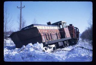 Original Slide S. Johnsbury & Lamoille Couny GE70 Wreck In 1973/E