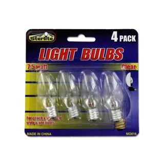 Wholesale Case Lot 144 Clear Light Bulbs Sets 7.5 Watt Night Lights