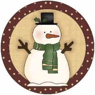 Snowman Christmas Tree Ornament Photo Cut Outs