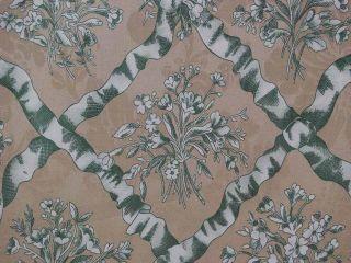 Beige Green Garden Lattice Drapery Upholstery Fabric