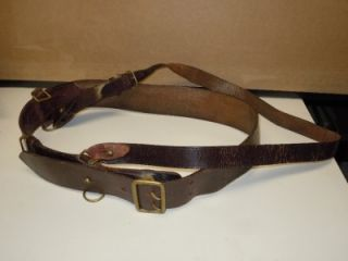 Vintage & Rare Sri Lankin Army Leather Weapon Belt Holster Military