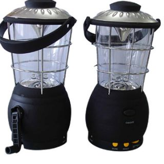 Dynamo 12 LED Wind Up Camping Lantern with Compass Detachable Lamp