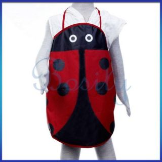Ladybird Fabric Apron Pinafore Kid Children Craft Party
