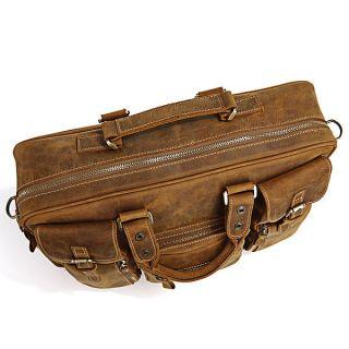 Leather Mens Briefcase Laptop Bag Dispatch Shoulder Huge 16 5