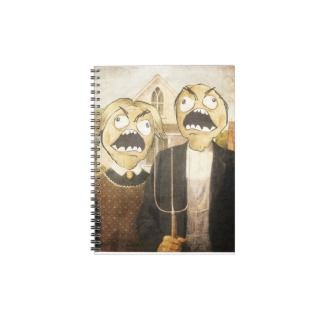 Rage Face Meme Face Comic Classy Painting Spiral Notebook