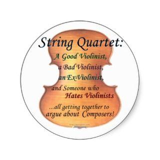 String Quartet definition Sticker