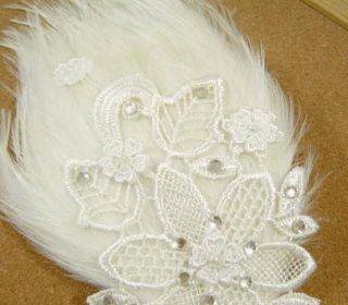 Bridal Feather White Fascinator Rhinestone Headpiece Hair Clip BA142