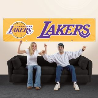 Los Angeles Lakers NBA 8 x 2 Applique Embroidered Team Banner Flag