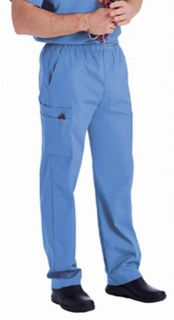 New Landau 8555 Mens Cargo Pant Ceil Blue Medical Nurse Scrubs All