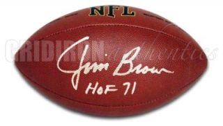 Jim Brown Auto RARE Wilson Football w HOF 71 Insc GA