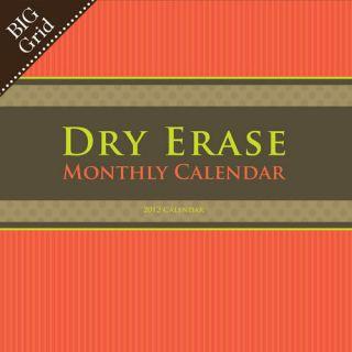 Big Grid Dry Erase 2012 Wall Calendar