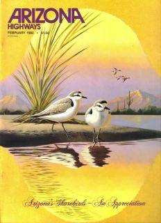 Arizona Highways Larry Toschik s World of Birds Art 10 Issue