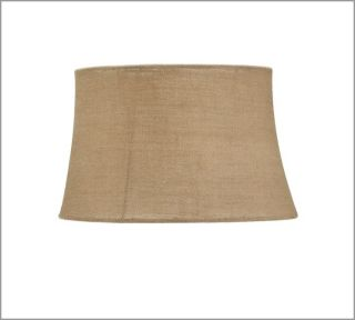 Pottery Barn Burlap Tapered Drum Lamp Shade Large Natural