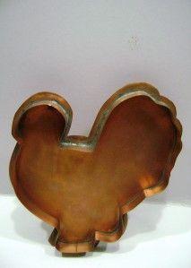 Michael Bonne Large Copper Tom Turkey Cookie Cutter RARE Signed
