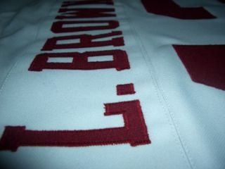 Larry Brown 43 Redskins Jersey White SZ46 to SZ56
