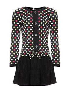 Yumi Girls Girl`s spot dress Black