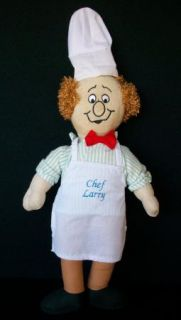 Three Stooges Chef Larry Stuffed Character Plush Doll