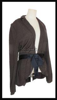 Breathless Lanvin Pure Merino Wool Silk Ribbon Brown Jacket 40