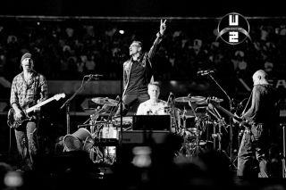 U2 Bono Edge Clayton Larry Mullen 360 Tour Concert Stage Poster Print