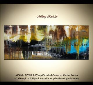 Oil Painting Original Abstract Art Modern Paintings Wall Artwork Brown