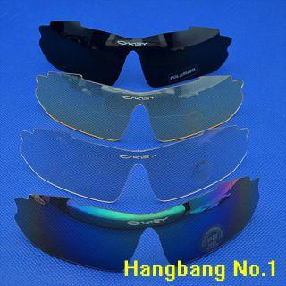 Pair Lens UV 400 Sunglasses Glass Mask Outdoor Sports Bike