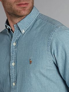 Polo Ralph Lauren Button down chambray shirt Blue   House of Fraser