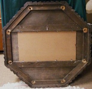 Gorgeous large round solid wood poker table top chalkboard this old