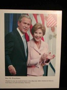 President George Bush w 1st Lady Laura Photo