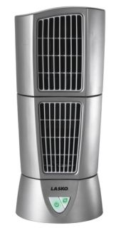 New Lasko Platinum Desktop Oscillating Wind Tower Fan 3 Speed Silver