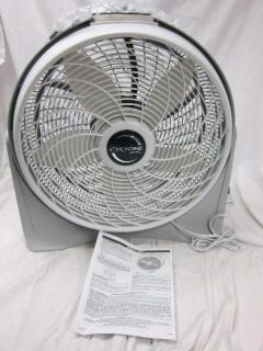Lasko 20 Cyclone Pivot Fan 3 Speed by Lasko Products Gray
