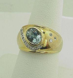 Stunning Estate Laura Ramsey Aquamarine Diamond Ring