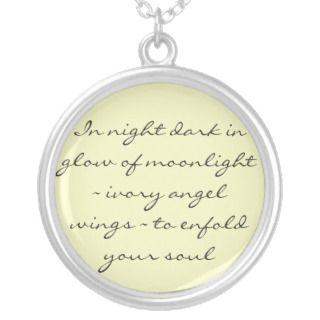 Angel Wings Poem Necklace