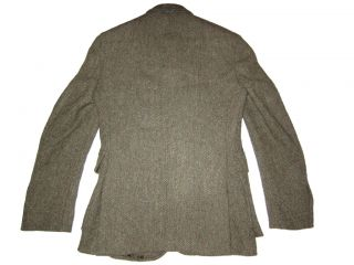 RRL Ralph Lauren Harris Tweed Blazer Polo 38R Jacket Herringbone Sport