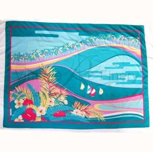 80s   Sarong Large Wrap Scarf   Beach   Laura Borghese   117x155cm