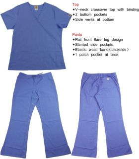 Nursing Scrubs Set for Women Free Shiping No Tax XS s M L XL XXL Top