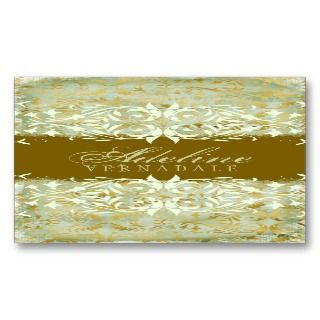 GC  Vintage Melon Gold Business Card
