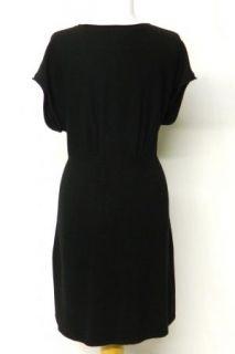 New Larsen Size L Pullover Cashmere Silk Sweater Dress Ribbed Waist