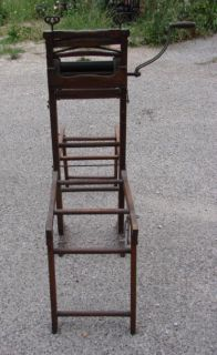 Antique American Wringer Co Washer Stand Folding Bench Clothes Coffee