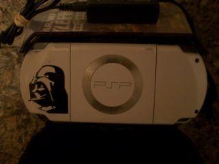 Sony PSP White Ceramic Star Wars Darth Vader Edition Handheld Bundle 6