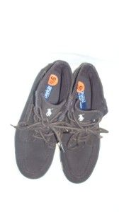 Ralph Lauren Polo $65 Brown Classic Suede Court High Top Sneaker J 5 5