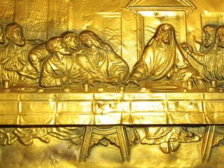 Hammered Wall Art Picture Relief The Last Supper Da Vinci