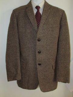 Classic Harris Tweed Vtg 50s Blazer Made England Skinny Lapels Sport