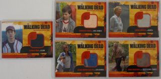 Lot of 5 Walking Dead Wardrobe Cards Carl Grimes Deer Eating Zombie