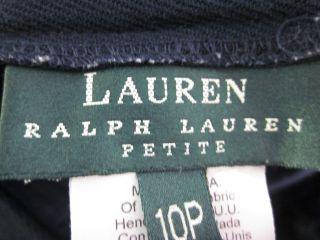 Lauren Ralph Lauren Navy Wool Dress Pants Petite Sz 10