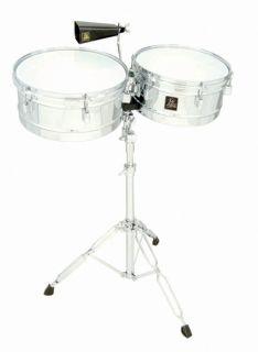 LP Latin Percussion Aspire 13 14 Chrome Finish Timbales